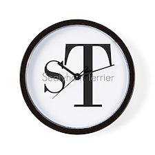 Sealyham Terrier Logo Wall Clock