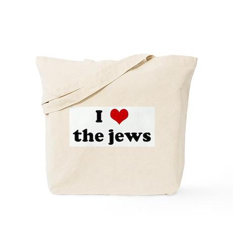 I Love the jews Tote Bag