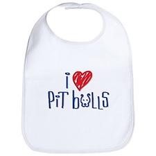 I Love Pit Bulls Bib