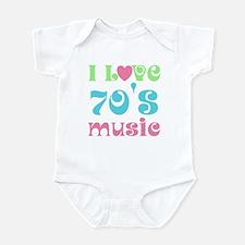 I Love 70's Music Infant Bodysuit