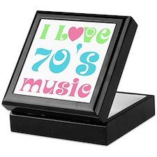 I Love 70's Music Keepsake Box