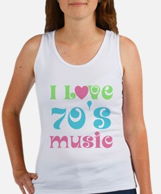 I Love 70's Music Women's Tank Top