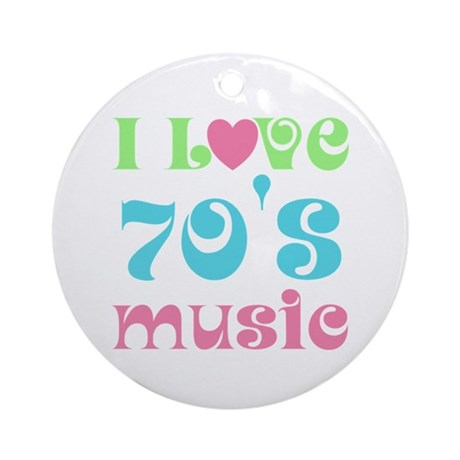 I Love 70's Music Ornament (Round)