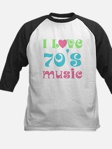 I Love 70's Music Kids Baseball Jersey