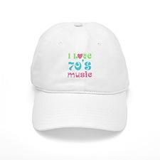 I Love 70's Music Baseball Cap