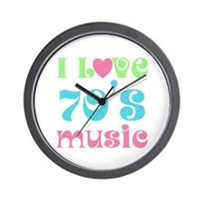 I Love 70's Music Wall Clock