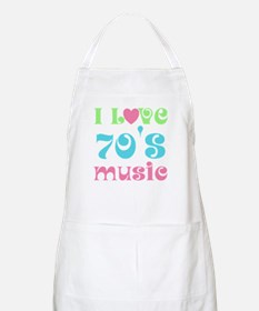 I Love 70's Music BBQ Apron