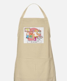 ... but he's fast. BBQ Apron