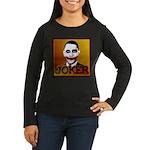 Obama Joker Women's Long Sleeve Dark T-Shirt