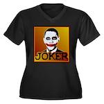 Obama Joker Women's Plus Size V-Neck Dark T-Shirt