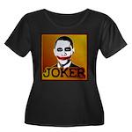 Obama Joker Women's Plus Size Scoop Neck Dark T-Sh