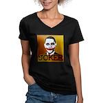 Obama Joker Women's V-Neck Dark T-Shirt