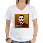 Obama Joker Women's V-Neck T-Shirt