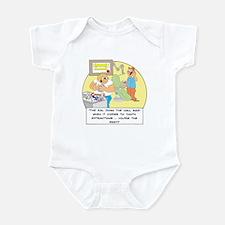 The girl down the hall said . Infant Bodysuit