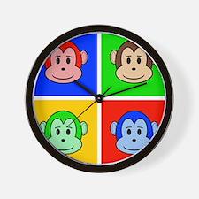 Andy Warhol like monkey design Wall Clock