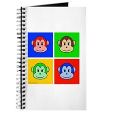 Andy Warhol like monkey design Journal