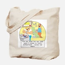 The girl down the hall said . Tote Bag
