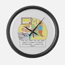 The girl down the hall said . Large Wall Clock