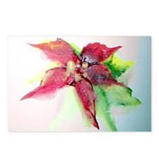 """""""Poinsettia-A Single Bloom"""" Postcards (Package of"""
