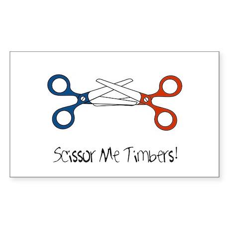 Scissor Me Timbers Rectangle Sticker