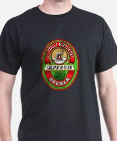 Beer Label (Front) Black T-Shirt