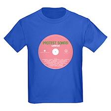 Protest Songs Kids Dark T-Shirt