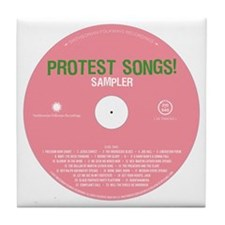 Protest Songs Tile Coaster