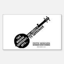 Pete Seeger Rectangle Decal