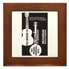 Cute Folkways records Framed Tile