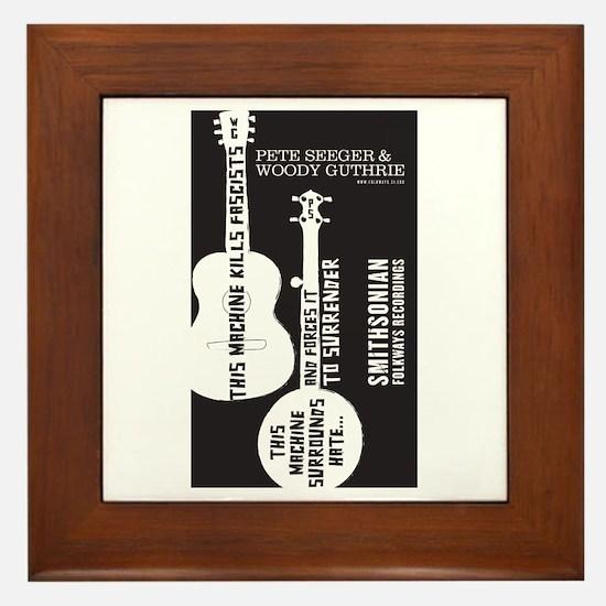 Cute Folkways records Framed Tile