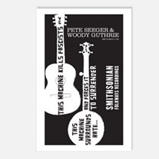 Funny Folk music Postcards (Package of 8)
