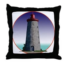 The Windmill Point Lighthouse Throw Pillow