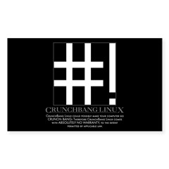 CrunchBang Disclaimer by anonymous (10 pk)