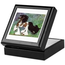 Cute Horses Keepsake Box