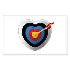 Archery Love 2 Rectangle Sticker 10 pk)