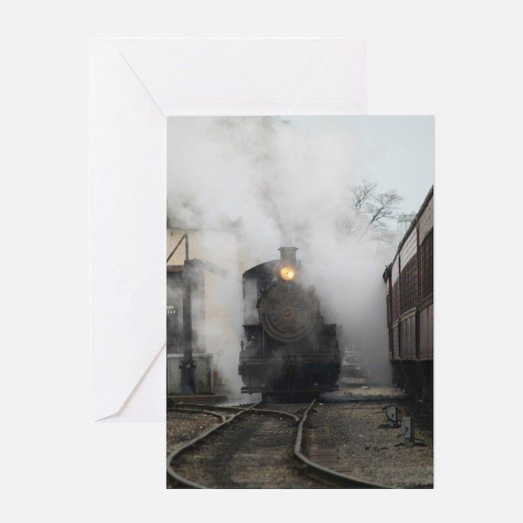 Steam Train full, New Hope, PA- Greeting Card