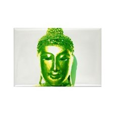 Green Water Color Buddha Rectangle Magnet