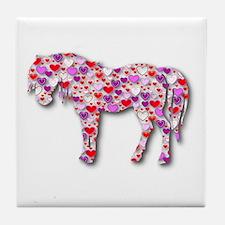 The Original Heart Horse Tile Coaster