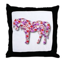 The Original Heart Horse Throw Pillow