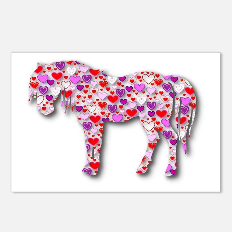 The Original Heart Horse Postcards (Package of 8)