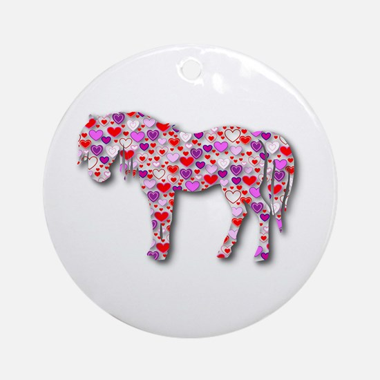 The Original Heart Horse Ornament (Round)