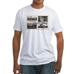 1951 Pontchartrain Beach Ad Fitted T-Shirt