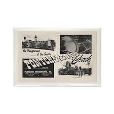 1951 Pontchartrain Beach Ad Rectangle Magnet
