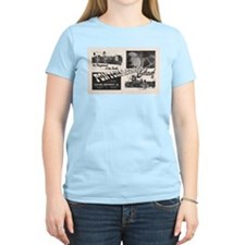 1951 Pontchartrain Beach Ad Women's Pink T-Shirt