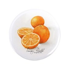 "Sliced Oranges - 3.5"" Button"