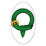 Apprentice belt Oval Sticker
