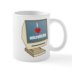 I Love Microfiche Mug
