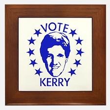 Vote Kerry Framed Tile