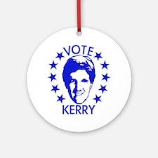 Vote Kerry Ornament (Round)