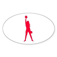 Cheerleader Oval Sticker (10 pk)